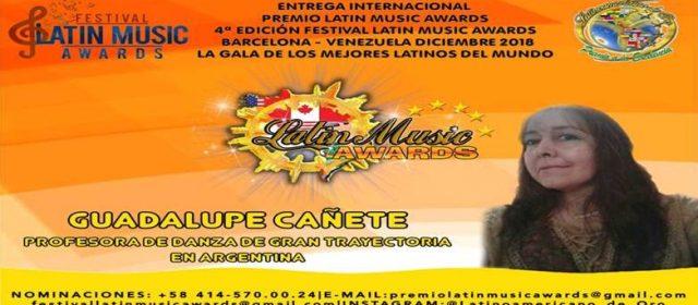 """LILIANA DE GUADALUPE CAÑETE SERÁ GALARDONADA EN LOS """"LATÍN MUSIC AWARDS"""" ESTE 1 DE DICIEMBRE"""