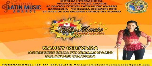 NANCY GUEVARA LA ESENCIA DEL CANTO CRIOLLO NOMINADA EN LOS PREMIOS LATÍN MUSIC AWARDS