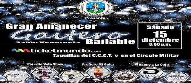 GRAN AMANECER GAITERO BAILABLE EN EL SALON VENEZUELA DEL CIRCULO MILITAR