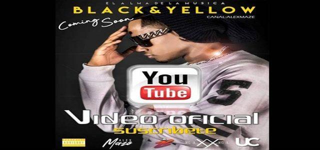"""ALEX MAZE ESTRENA SU NUEVO VIDEO OFFICIAL """"BLACK & YELLOW"""""""