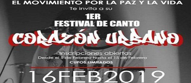 """PRIMER FESTIVAL DE CANTO """"CORAZÓN URBANO"""" 2019 EN LA VICTORIA"""
