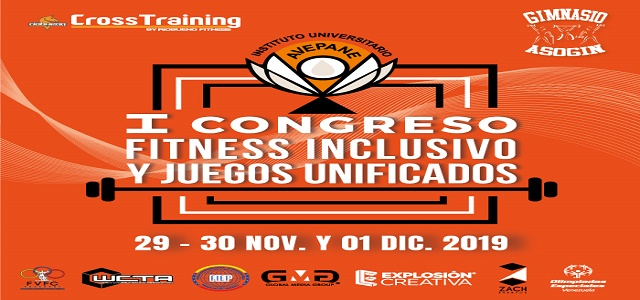 PRIMER CONGRESO FITNESS INCLUSIVO Y JUEGOS UNIFICADOS AVEPANE 2019